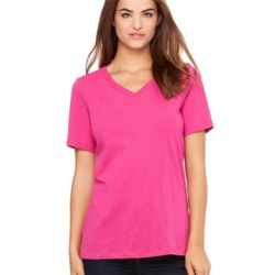 Relaxed Short Sleeve Jersey V-Neck T-Shirt Thumbnail