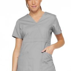 Women's EDS Signature Mock Wrap Scrub Top Thumbnail