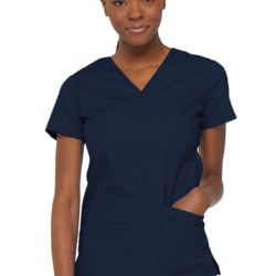 EDS: Women's Signature Mock Wrap Scrub Top Thumbnail