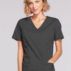 Ladies Mock Wrap Scrub Top Thumbnail